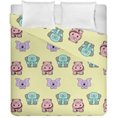 Animals Pastel Children Colorful Duvet Cover Double Side (california King Size)