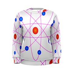 Atom Model Vector Clipart Women s Sweatshirt