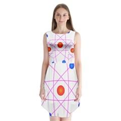 Atom Model Vector Clipart Sleeveless Chiffon Dress