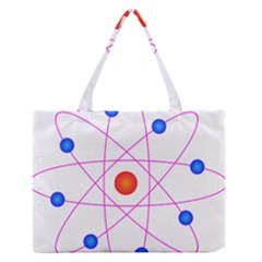 Atom Model Vector Clipart Medium Zipper Tote Bag