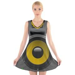 Audio Loadspeaker Activ V-Neck Sleeveless Skater Dress