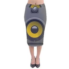 Audio Loadspeaker Activ Velvet Midi Pencil Skirt