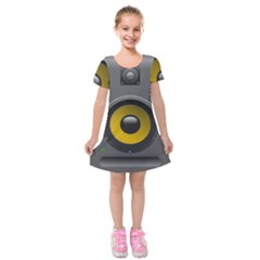 Audio Loadspeaker Activ Kids  Short Sleeve Velvet Dress