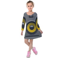 Audio Loadspeaker Activ Kids  Long Sleeve Velvet Dress