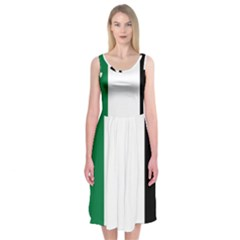 Palestine flag Midi Sleeveless Dress