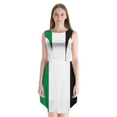 Palestine flag Sleeveless Chiffon Dress
