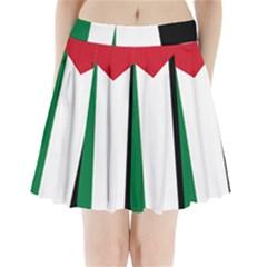 Palestine flag Pleated Mini Skirt