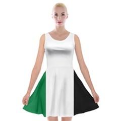 Palestine Flag Velvet Skater Dress