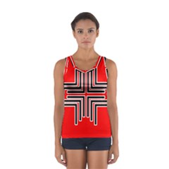 Backdrop Background Pattern Women s Sport Tank Top
