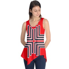 Backdrop Background Pattern Sleeveless Tunic