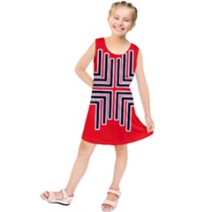 Backdrop Background Pattern Kids  Tunic Dress