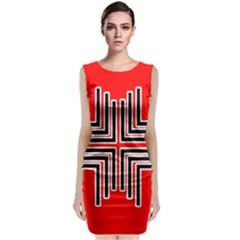 Backdrop Background Pattern Sleeveless Velvet Midi Dress