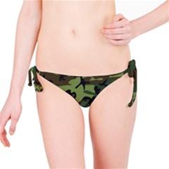 Camouflage Green Brown Black Bikini Bottom