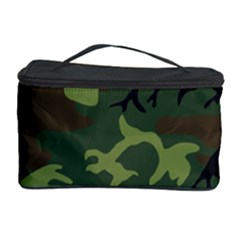 Camouflage Green Brown Black Cosmetic Storage Case