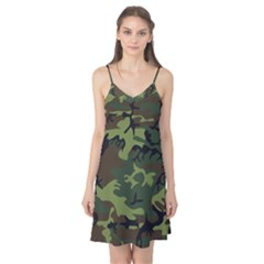 Camouflage Green Brown Black Camis Nightgown