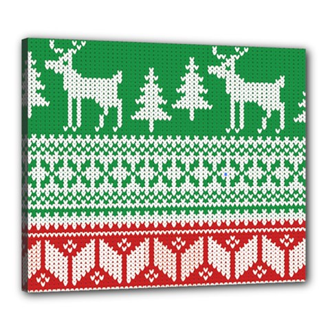 Christmas Jumper Pattern Canvas 24  x 20