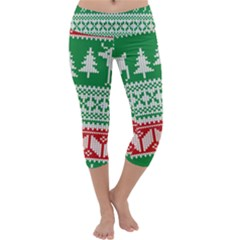 Christmas Jumper Pattern Capri Yoga Leggings