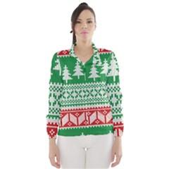Christmas Jumper Pattern Wind Breaker (Women)
