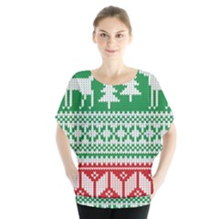 Christmas Jumper Pattern Blouse