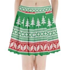 Christmas Jumper Pattern Pleated Mini Skirt