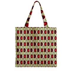 Christmas Pattern Zipper Grocery Tote Bag