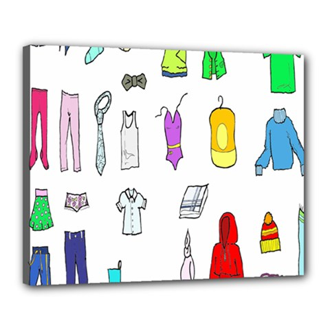 Clothing Boots Shoes Shorts Scarf Canvas 20  x 16