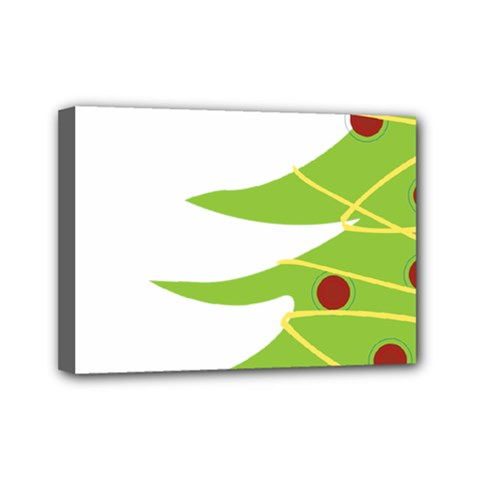 Christmas Tree Christmas Mini Canvas 7  x 5