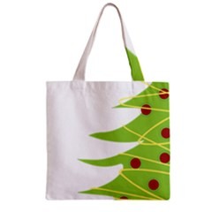 Christmas Tree Christmas Zipper Grocery Tote Bag