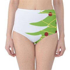 Christmas Tree Christmas High-Waist Bikini Bottoms
