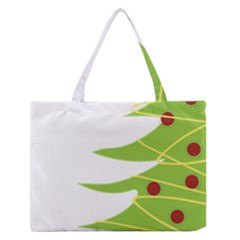 Christmas Tree Christmas Medium Zipper Tote Bag