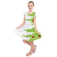 Christmas Tree Christmas Kids  Short Sleeve Dress