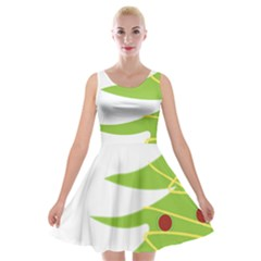 Christmas Tree Christmas Velvet Skater Dress
