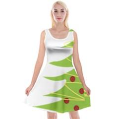Christmas Tree Christmas Reversible Velvet Sleeveless Dress
