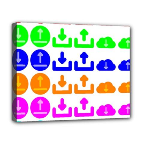 Download Upload Web Icon Internet Deluxe Canvas 20  X 16