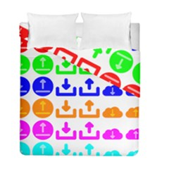Download Upload Web Icon Internet Duvet Cover Double Side (full/ Double Size)