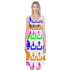 Download Upload Web Icon Internet Midi Sleeveless Dress