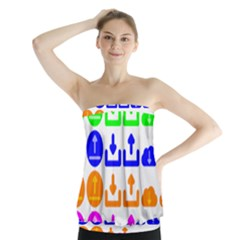Download Upload Web Icon Internet Strapless Top