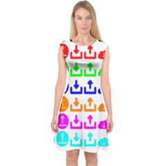 Download Upload Web Icon Internet Capsleeve Midi Dress