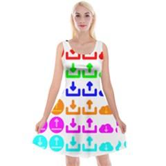 Download Upload Web Icon Internet Reversible Velvet Sleeveless Dress