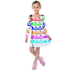 Download Upload Web Icon Internet Kids  Long Sleeve Velvet Dress