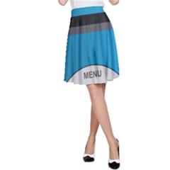 Digital Mp3 Musik Player A-Line Skirt