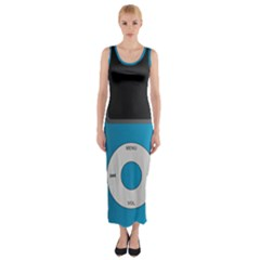 Digital Mp3 Musik Player Fitted Maxi Dress
