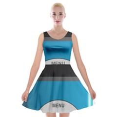 Digital Mp3 Musik Player Velvet Skater Dress