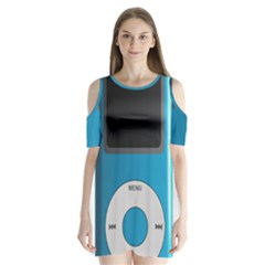 Digital Mp3 Musik Player Shoulder Cutout Velvet  One Piece