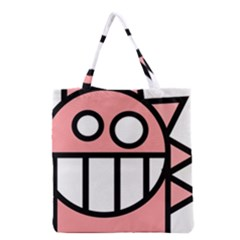 Dragon Head Pink Childish Cartoon Grocery Tote Bag