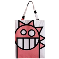Dragon Head Pink Childish Cartoon Zipper Classic Tote Bag