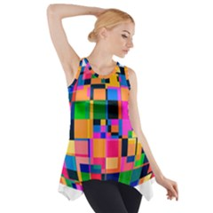 Color Focusing Screen Vault Arched Side Drop Tank Tunic