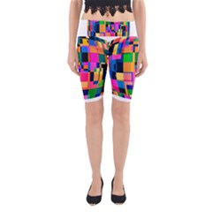 Color Focusing Screen Vault Arched Yoga Cropped Leggings