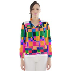 Color Focusing Screen Vault Arched Wind Breaker (Women)
