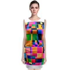 Color Focusing Screen Vault Arched Classic Sleeveless Midi Dress